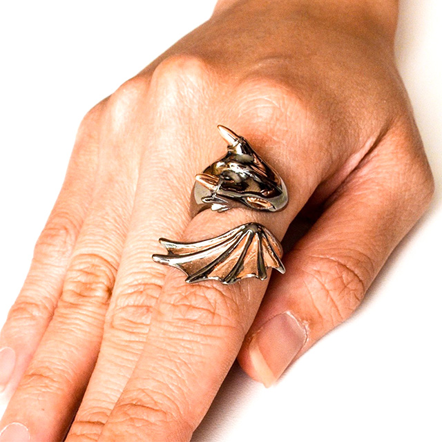 Pink Gold-Plated Dragon Ring