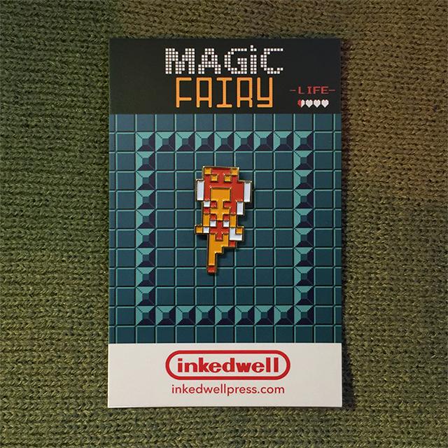 Zelda Hearts Fairy Pin