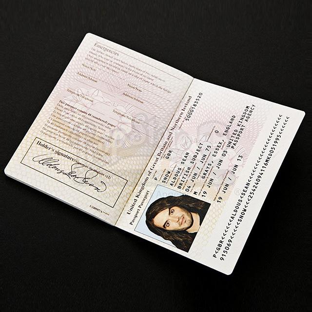 Aldous Snow's Passport