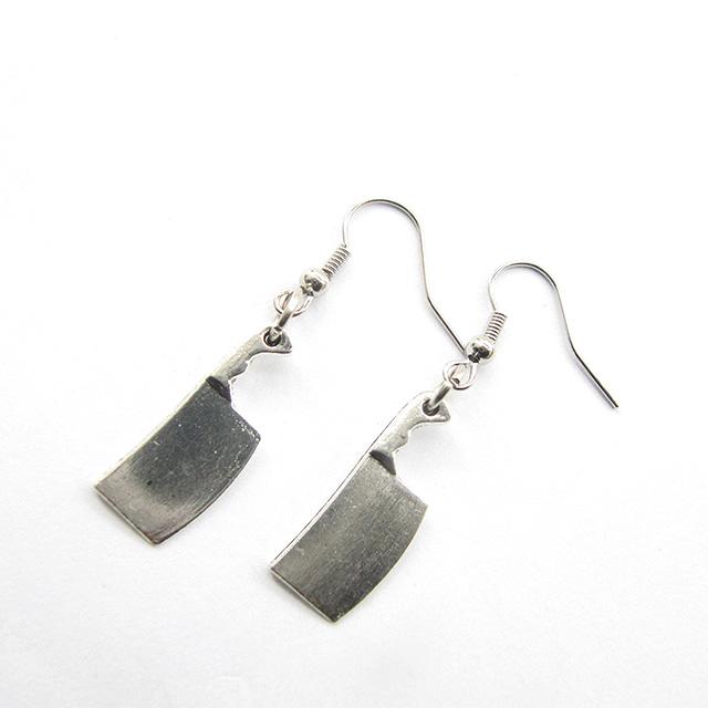Meat Cleaver Earrings