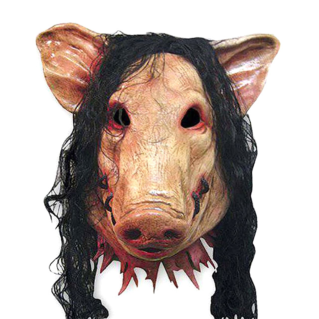 Wigged Pig Mask from Saw