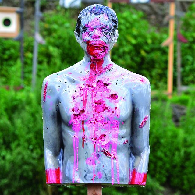 Bleeding Zombie Shooting Target