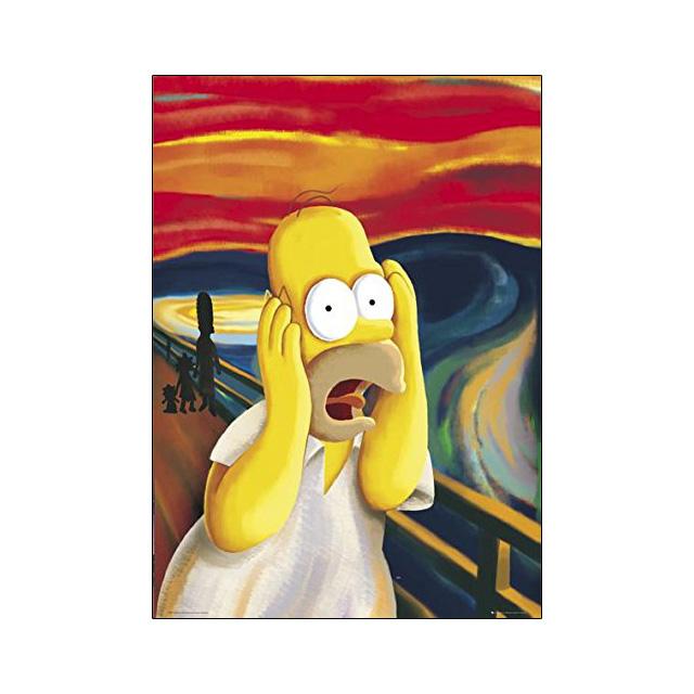 Homer Simpson Scream Poster