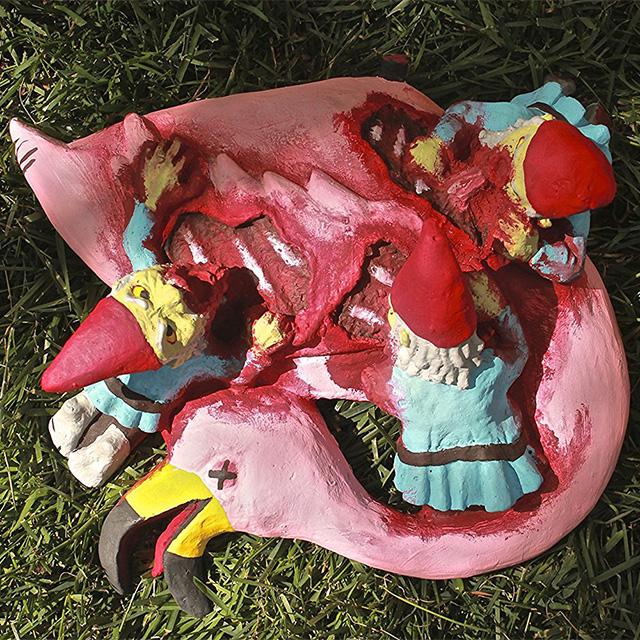 Pink Flamingo Zombie Gnome Feast