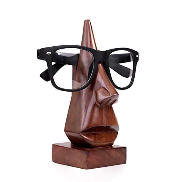 Wooden Statue Eyeglasses Holder