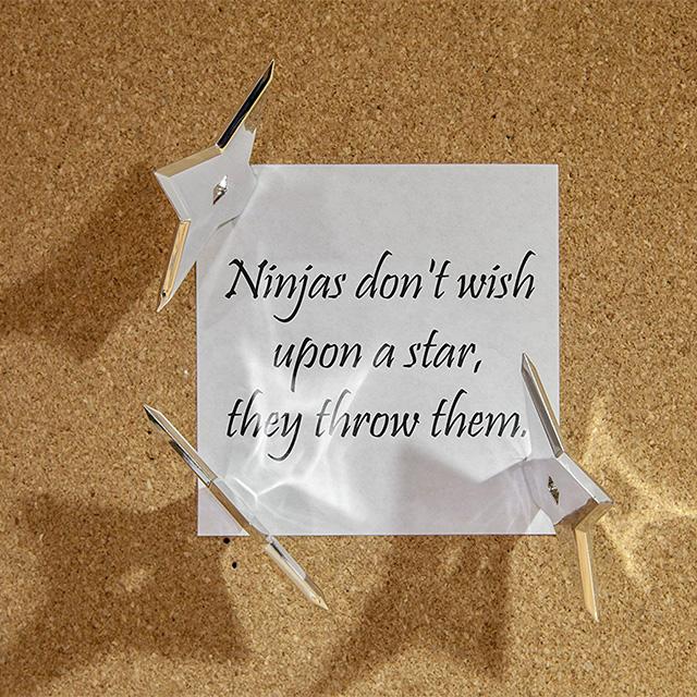 Throwing Star Push Pins