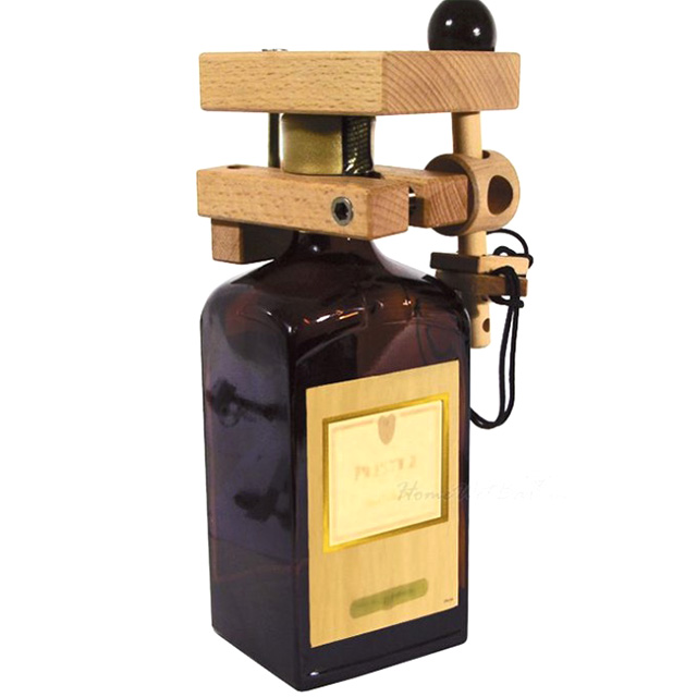 Wooden Puzzle Bottle Lock