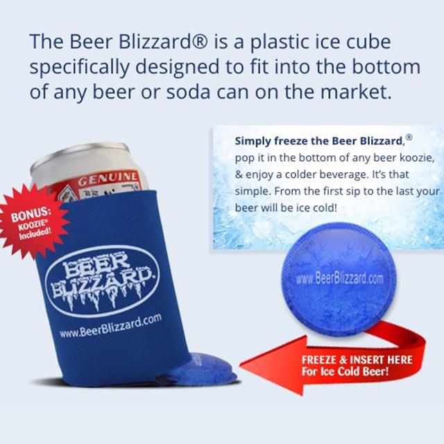 Beer Blizzard Koozie Insert