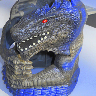 Godzilla Cup Holder from Taco Bell in 1998