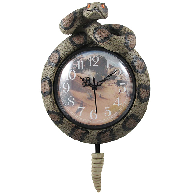 Rattlesnake Pendulum Clock