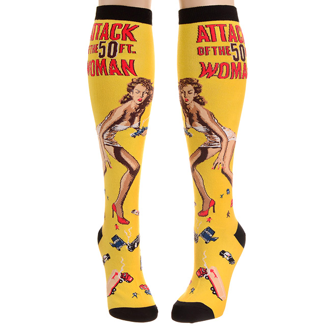 Attack of the 50 Ft. Woman Socks