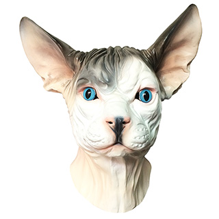 Intense Sphynx Cat Mask