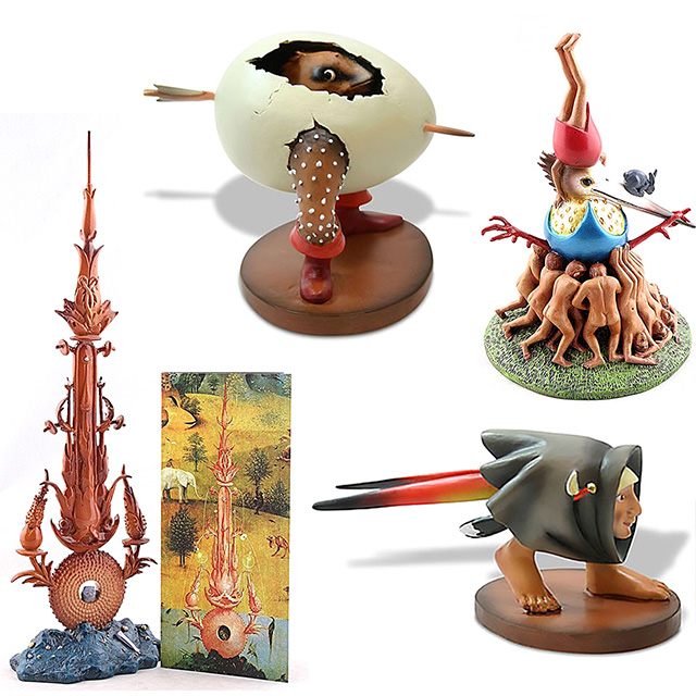 Mini Hieronymus Bosch Statues