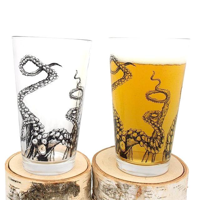 Octopus Pint Glasses