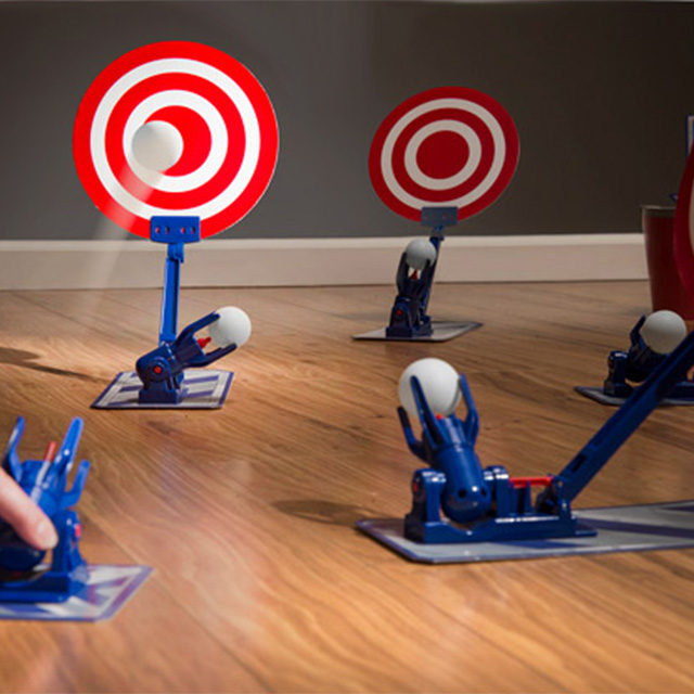 Chain-Reaction Pong Ball Launchers