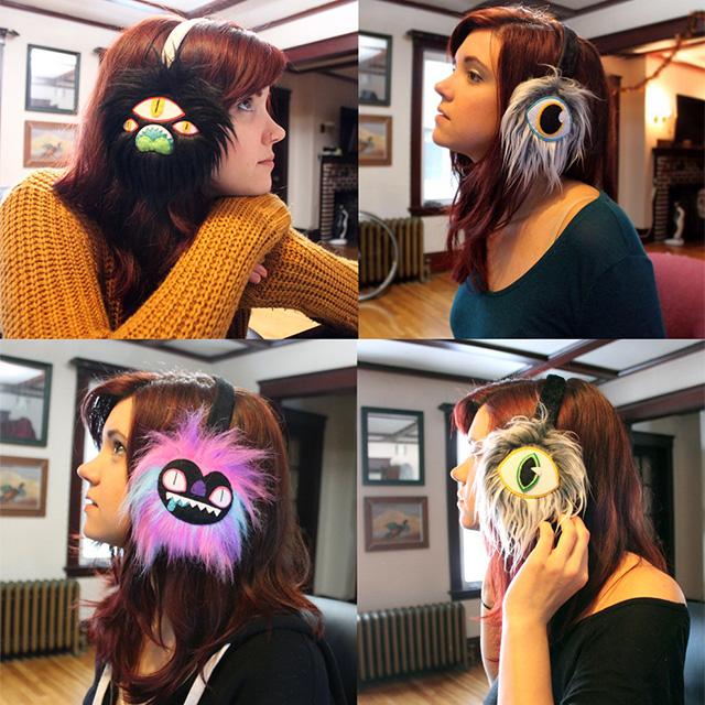 Furry Monster Earmuffs