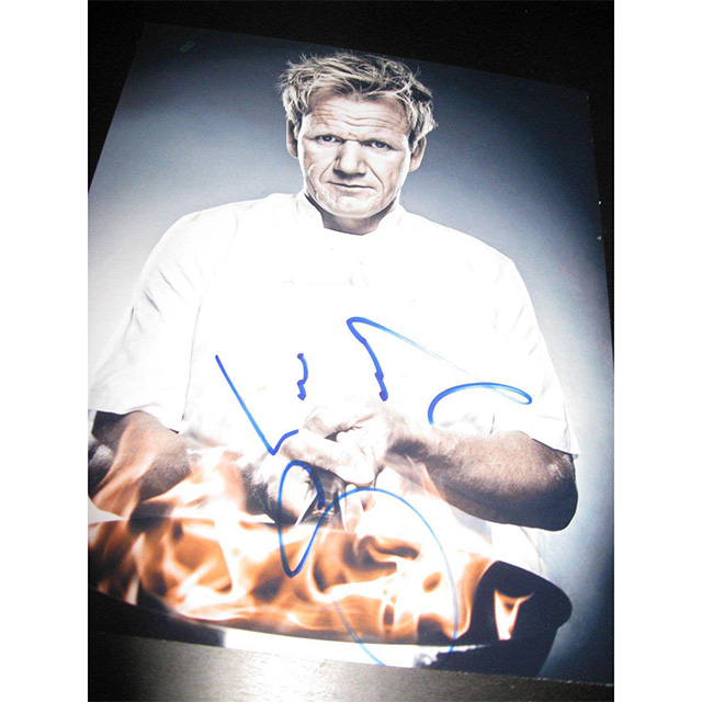 Gordon Ramsay Autographed Picture
