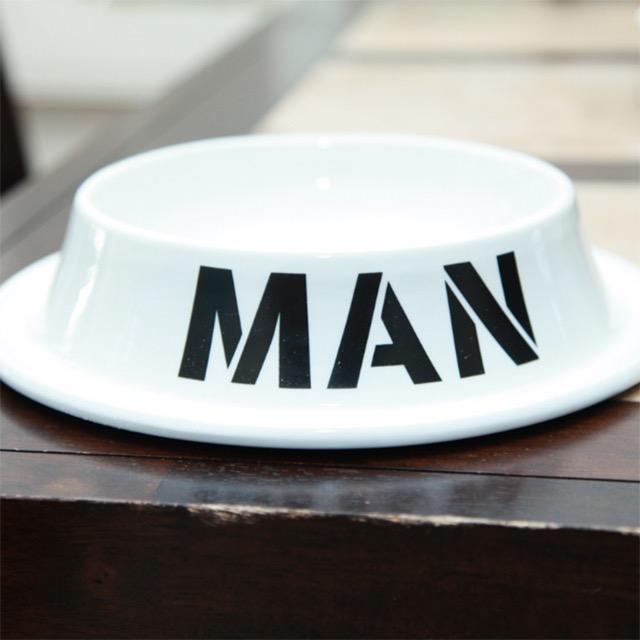 Man Dog Bowl
