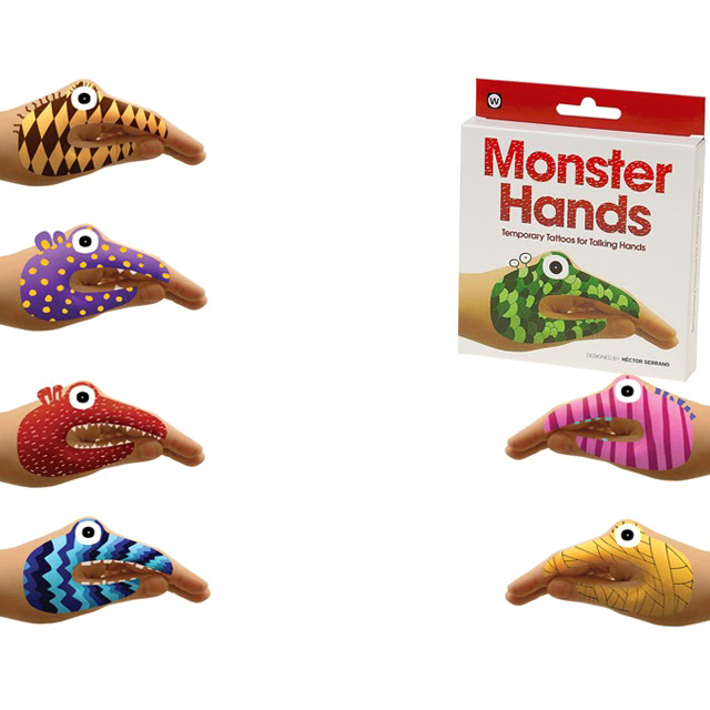Monster Hands Temporary Tats
