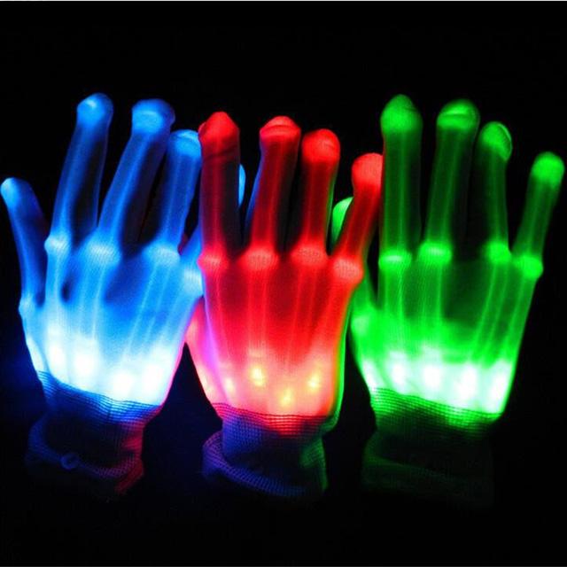 Skeletal LED Gloves
