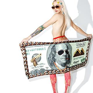 100 Dollar Bill Towel