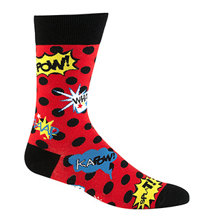 Comic Book Action Socks