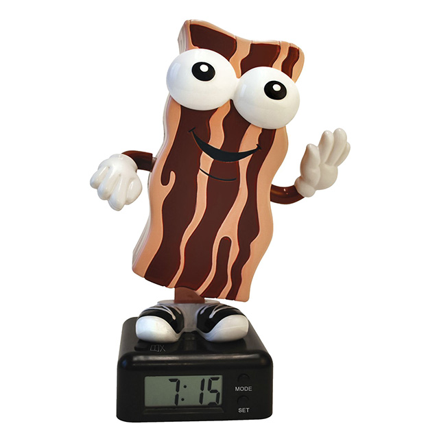 Dancing Bacon Alarm Clock