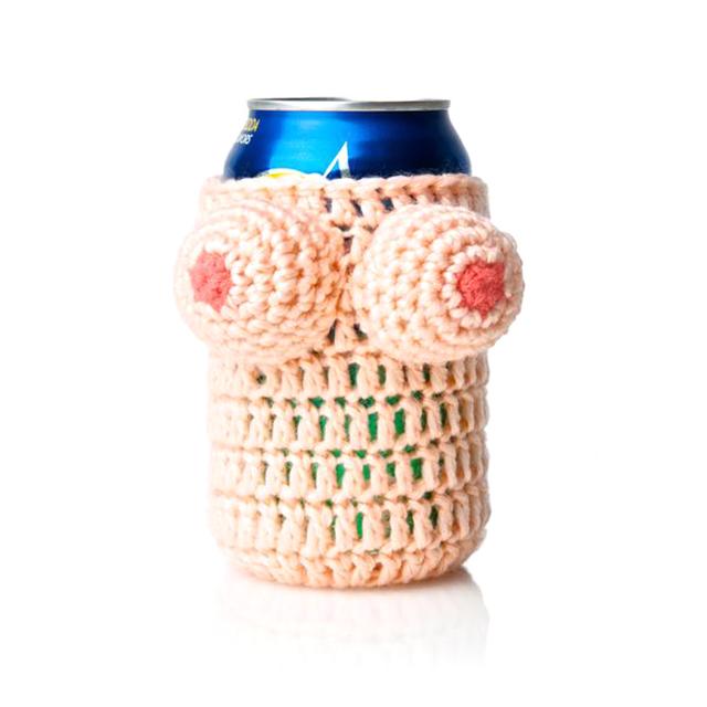 Knitted Boobs Koozie
