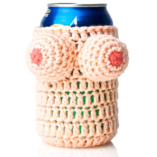 Knitted Boobs Koozie