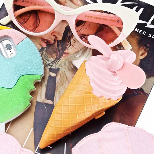 Pink Ice Cream Cone Fan