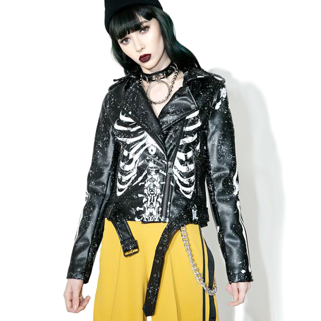Skeleton Leather Jacket