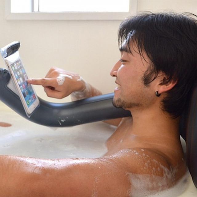 Inflatable Bath Pillow Phone Holder