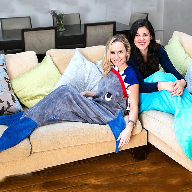 Shark and Mermaid Blankets