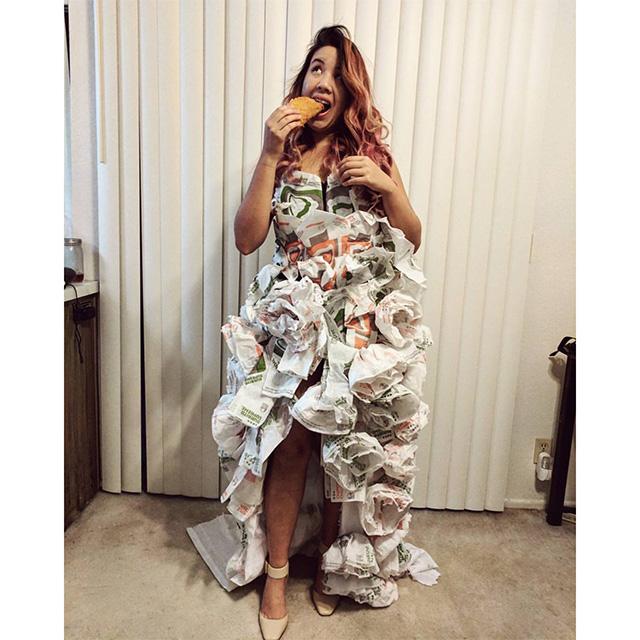 Taco Bell Wrapper Wedding Dress