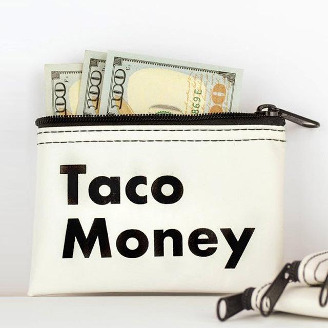 Taco Money Bag
