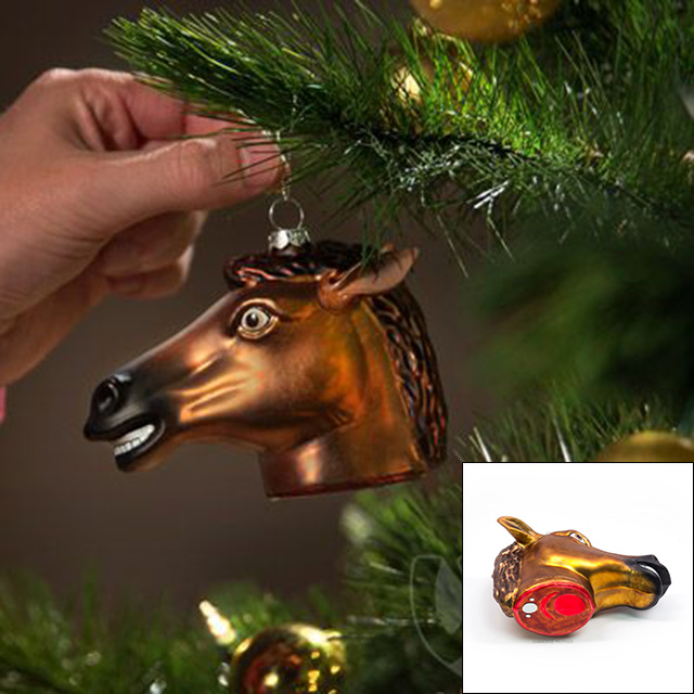 Decapitated Horse Ornament