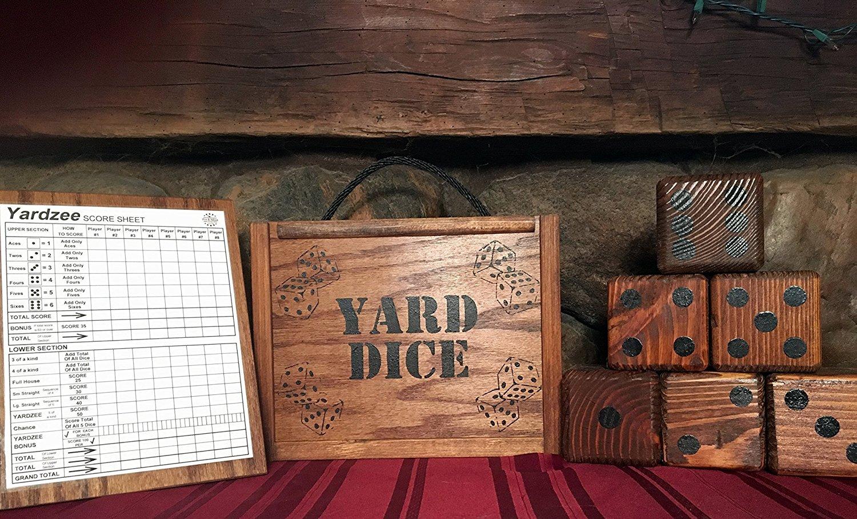 Giant Wooden Yahtzee Dice Set