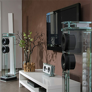 Glass Speaker Towers