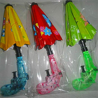 Squirt Guns with Umbrella Shields