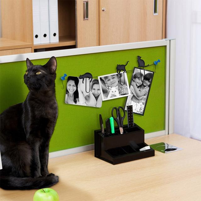 Black Cat Paper Clips