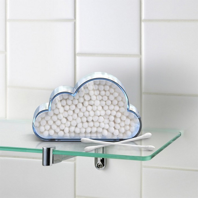 Cloud Q-Tip Holder