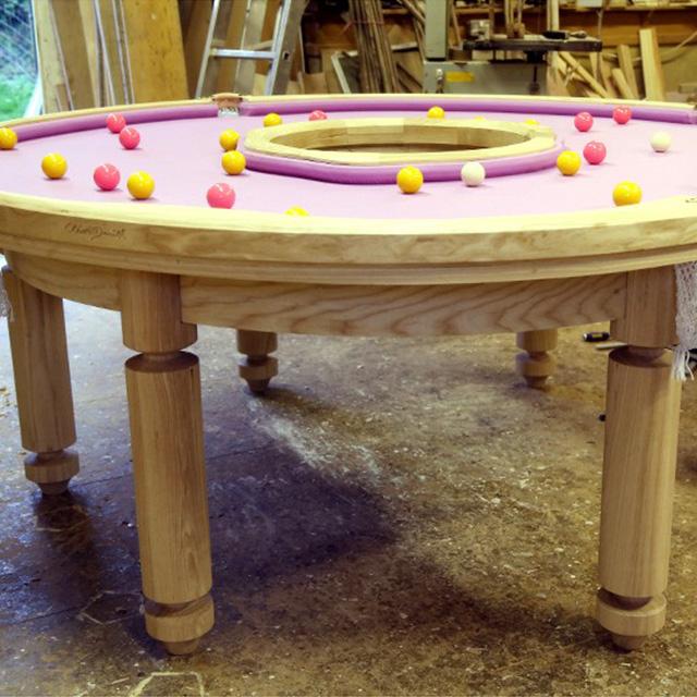 Doughnut-Shaped Pool Table