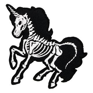 Skeleton Unicorn Patch