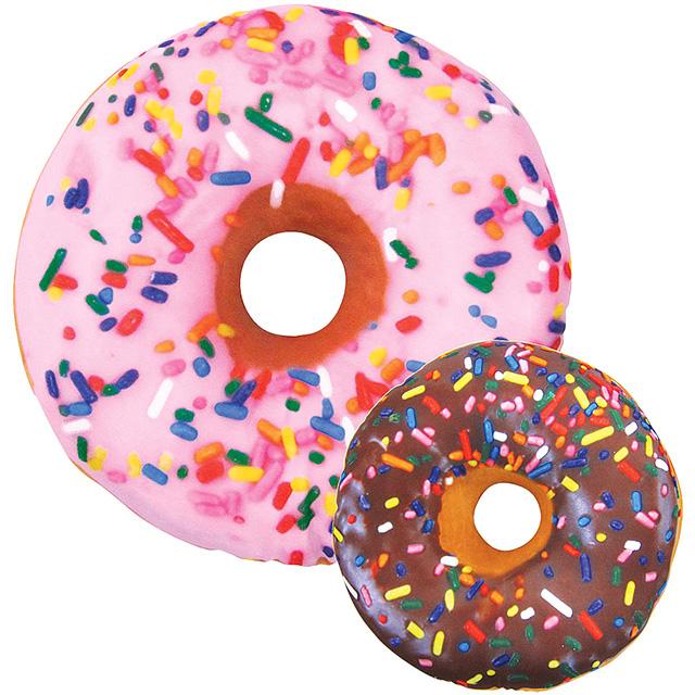Sprinkle Doughnut Throw Pillow