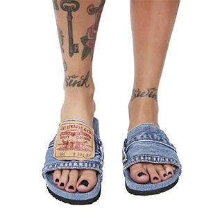 Denim Flip Flops