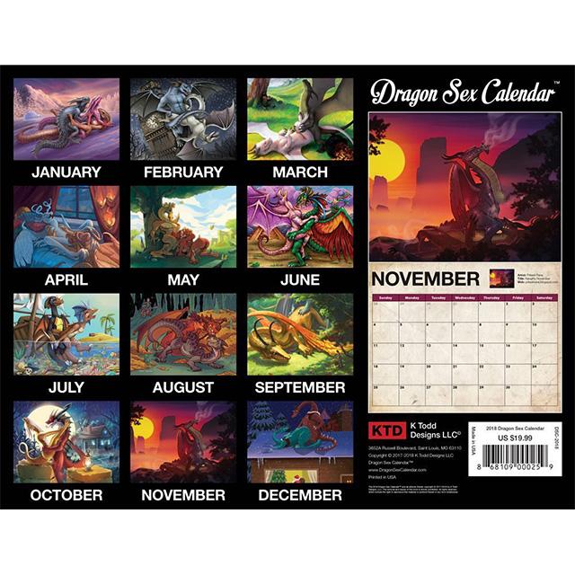 Dragon Sex Calendar for 2018