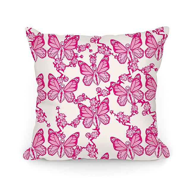 Vagina Butterfly Pillow