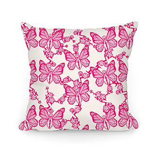 Vagina Butterfly Pillow