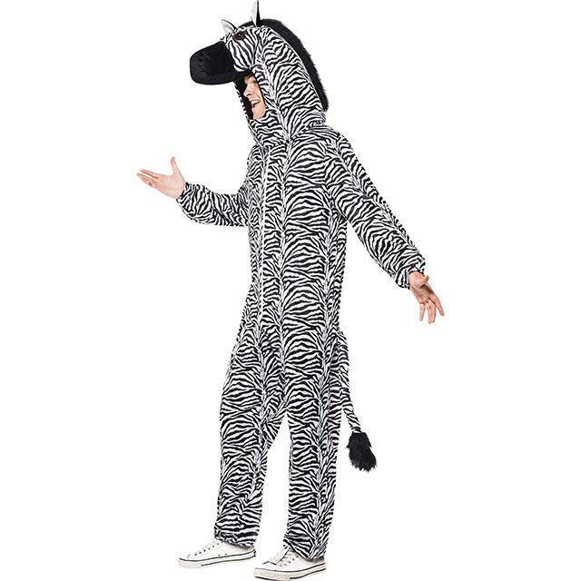 Hooded Zebra Bodysuit